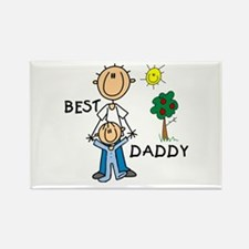 Best Daddy With Son Rectangle Magnet