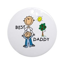 Best Daddy With Son Ornament (Round)