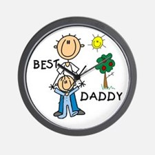 Best Daddy With Son Wall Clock