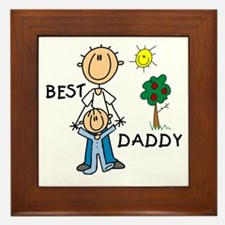 Best Daddy With Son Framed Tile