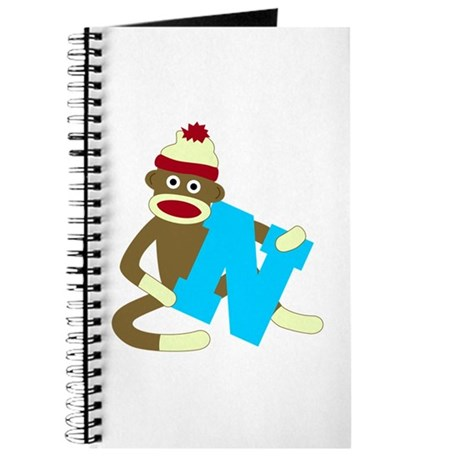Sock Monkey Monogram Boy N Journal