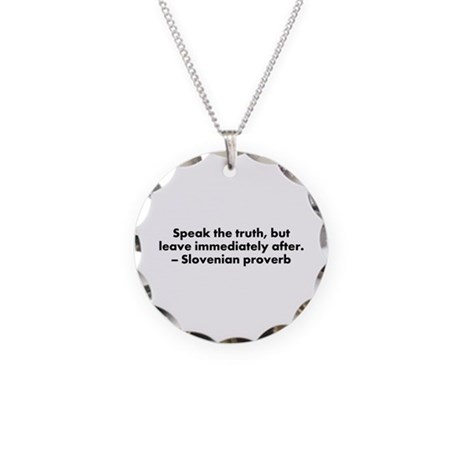 Speak the Truth Necklace Circle Charm