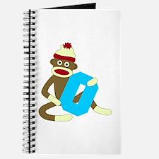 Sock Monkey Monogram Boy O Journal