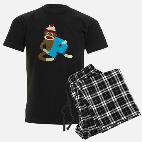Sock Monkey Monogram Boy P Pajamas