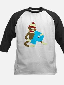 Sock Monkey Monogram Boy P Tee