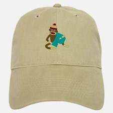 Sock Monkey Monogram Boy P Baseball Baseball Cap