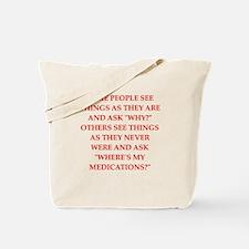 psycho joke Tote Bag