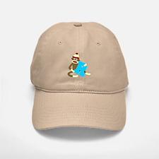 Sock Monkey Monogram Boy R Baseball Baseball Cap