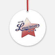 """Team Larson"" Ornament (Round)"