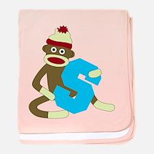 Sock Monkey Monogram Boy S baby blanket
