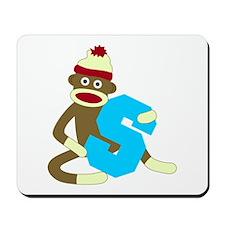 Sock Monkey Monogram Boy S Mousepad