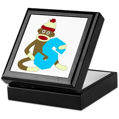 Sock Monkey Monogram Boy S Keepsake Box