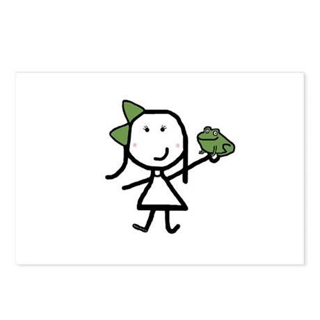 Girl & Frog Postcards (Package of 8)