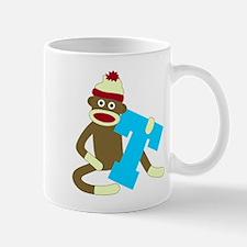 Sock Monkey Monogram Boy T Coffee Mug