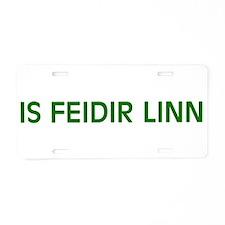 Is Feidir Linn Aluminum License Plate