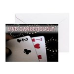 Live Dangerously Greeting Cards (Pk of 10)