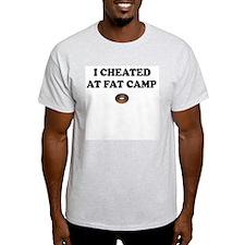 I Cheated at Fat camp Ash Grey T-Shirt
