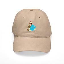 Sock Monkey Monogram Boy U Baseball Cap