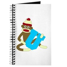 Sock Monkey Monogram Boy U Journal