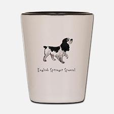 English Springer Spaniel Illu Shot Glass