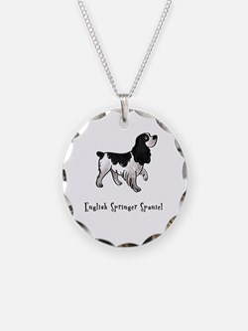 English Springer Spaniel Illu Necklace
