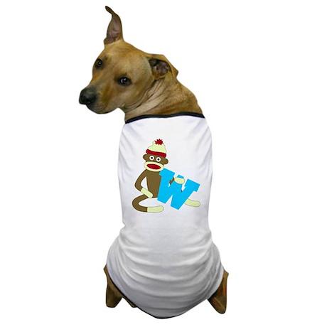 Sock Monkey Monogram Boy W Dog T-Shirt