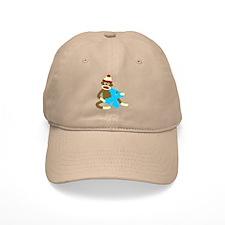 Sock Monkey Monogram Boy X Baseball Cap