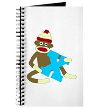 Sock Monkey Monogram Boy X Journal