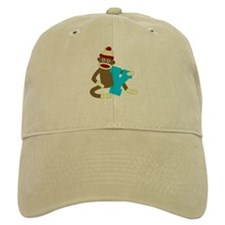 Sock Monkey Monogram Boy Y Baseball Cap