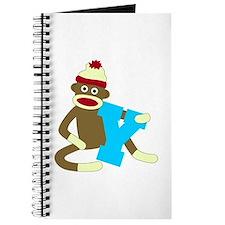 Sock Monkey Monogram Boy Y Journal