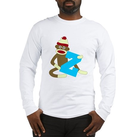 Sock Monkey Monogram Boy Z Long Sleeve T-Shirt