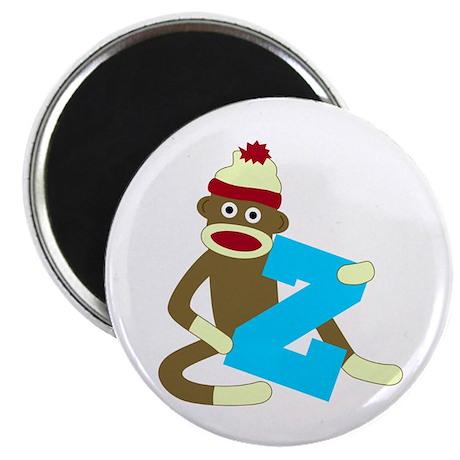Sock Monkey Monogram Boy Z Magnet
