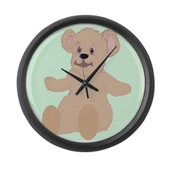 Smiling Teddy Large Wall Clock