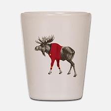 Moose Red Shirt Shot Glass