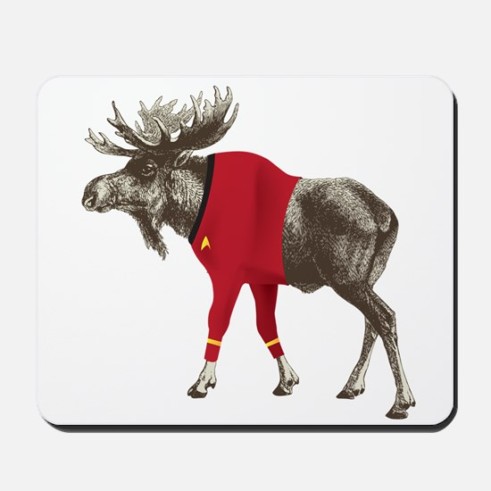 Moose Red Shirt Mousepad