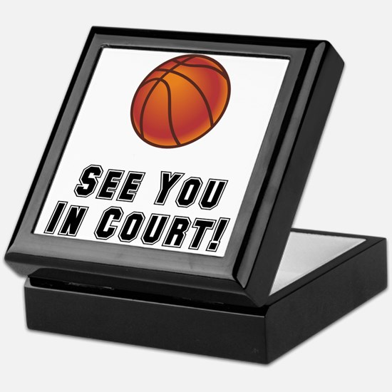 Basketball Court Keepsake Box