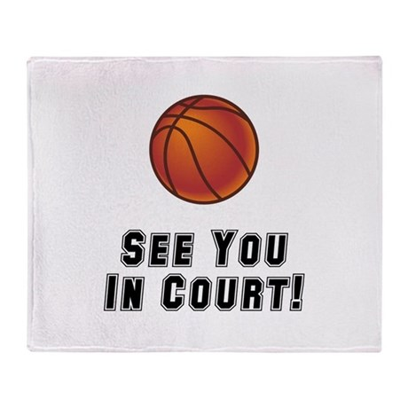 Basketball Court Throw Blanket