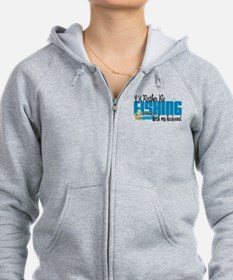 Rather Be Fishing With My Husband Zip Hoodie
