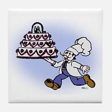 Cake Chef Tile Coaster