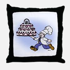 Cake Chef Throw Pillow
