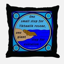 Tiktaalik Roseae Evolution Throw Pillow