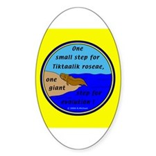 Tiktaalik Roseae Evolution Oval Decal