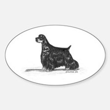 American Cocker Spaniel Sticker (Oval)