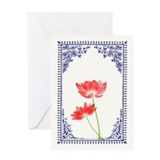 .::MoonDreams::. Vintage Red Lotus Blue Border