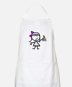Girl & Microscope BBQ Apron