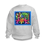 tropical forest animals mola Kids Sweatshirt