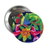 "tropical forest animals mola 2.25"" Button (10 pack"
