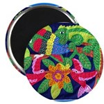 "tropical forest animals mola 2.25"" Magnet (10 pack"