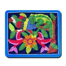tropical forest animals mola Mousepad