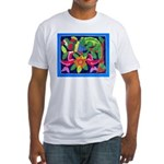 tropical forest animals mola Fitted T-Shirt